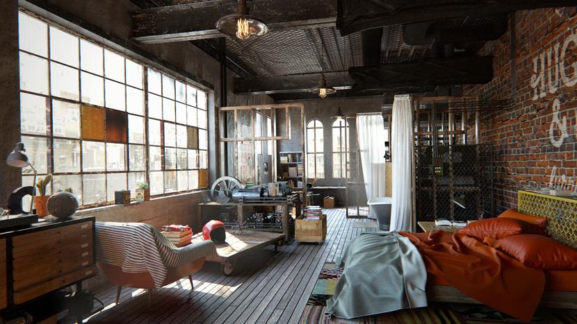 Visualisation architecturale | « Whola Lotta Loft » | Yarko Kushta
